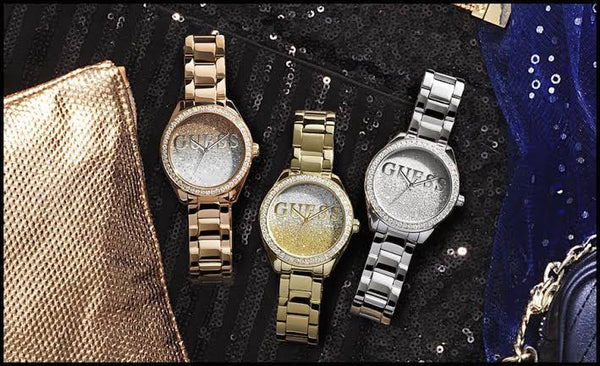 GUESS Glitter Girl W0987L2 Crystal Gold Ladies Watch