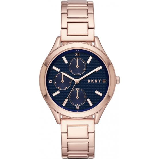 DKNY NY2661 Rose Gold Multifunction Blue Dial Ladies Watch