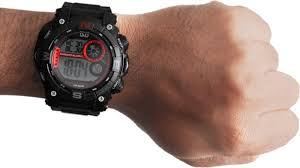 Q&Q M133J002Y Black Digital Mens Sport Watch