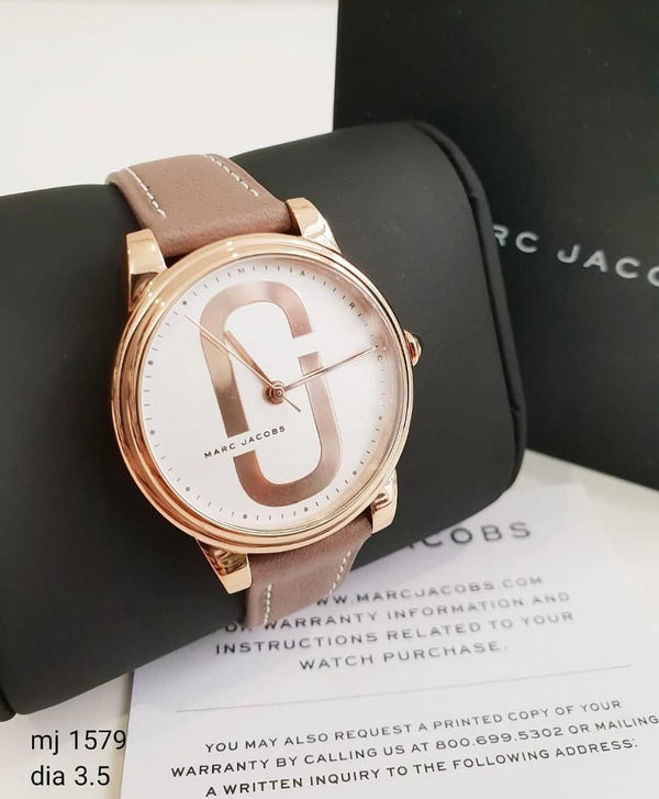 Marc Jacob MJ1579 Corie Brown Leather Strap Women's Watch