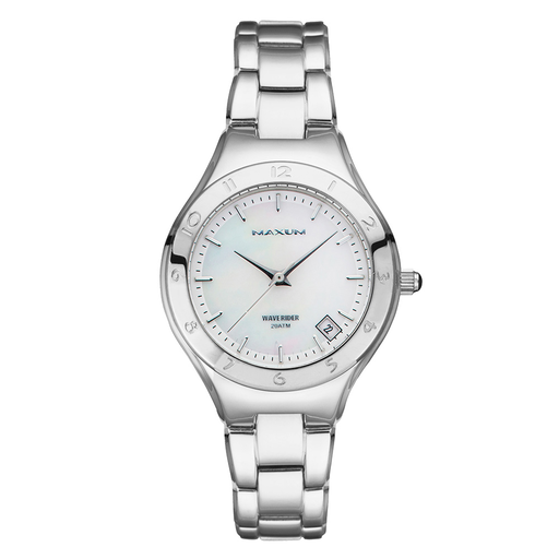 Maxum Waverider MW1453L1 200m Silver Ladies Watch