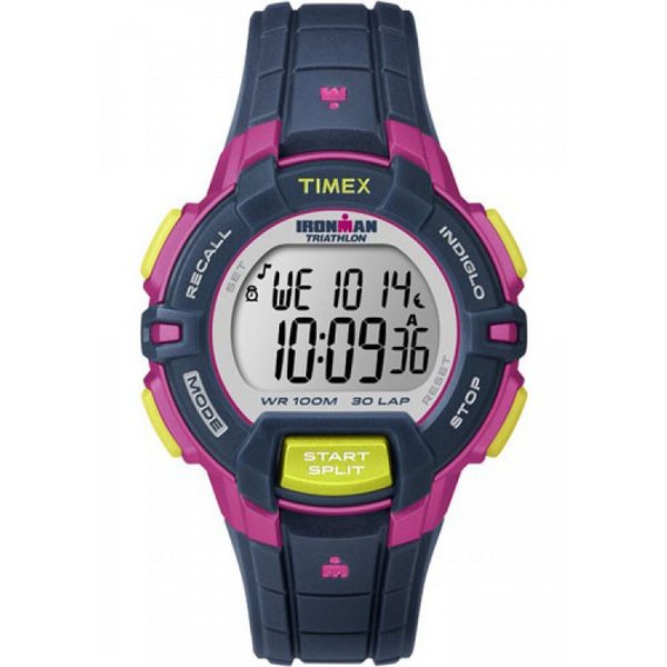 Timex Ironman sports watch T5K813 Rugged 30-Lap Color Block blue/pink