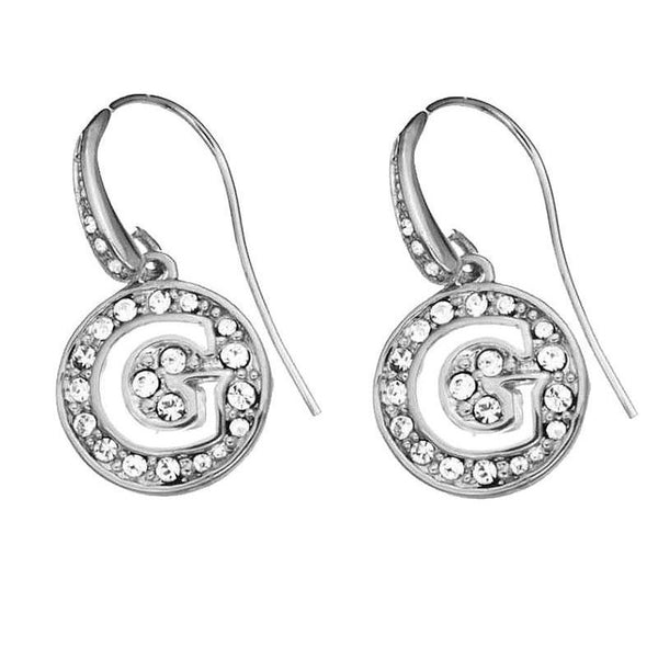 GUESS EARRINGS SILVER G LOGO UBE51426