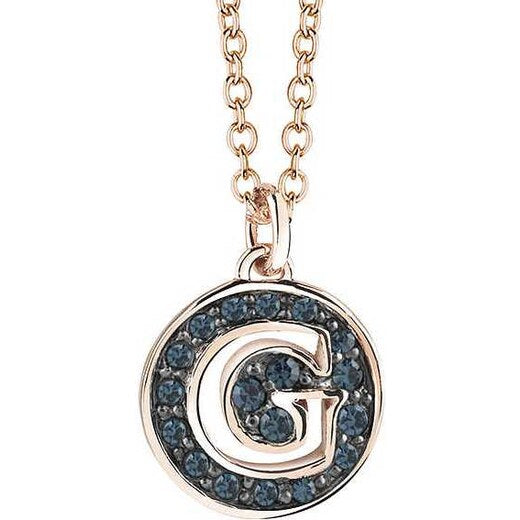 Guess Necklace UBN91402 Rose Gold Plated G Pendant Packaging&Cert