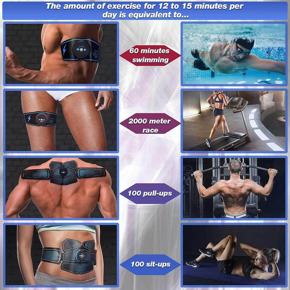 muscle stimulator exercise is equivalent to 60 minutes swimming - Trusty Fitness