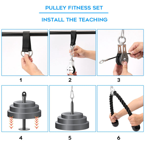 Portable Pulley Cable Machine - PulleyCable - Trusty Fitness