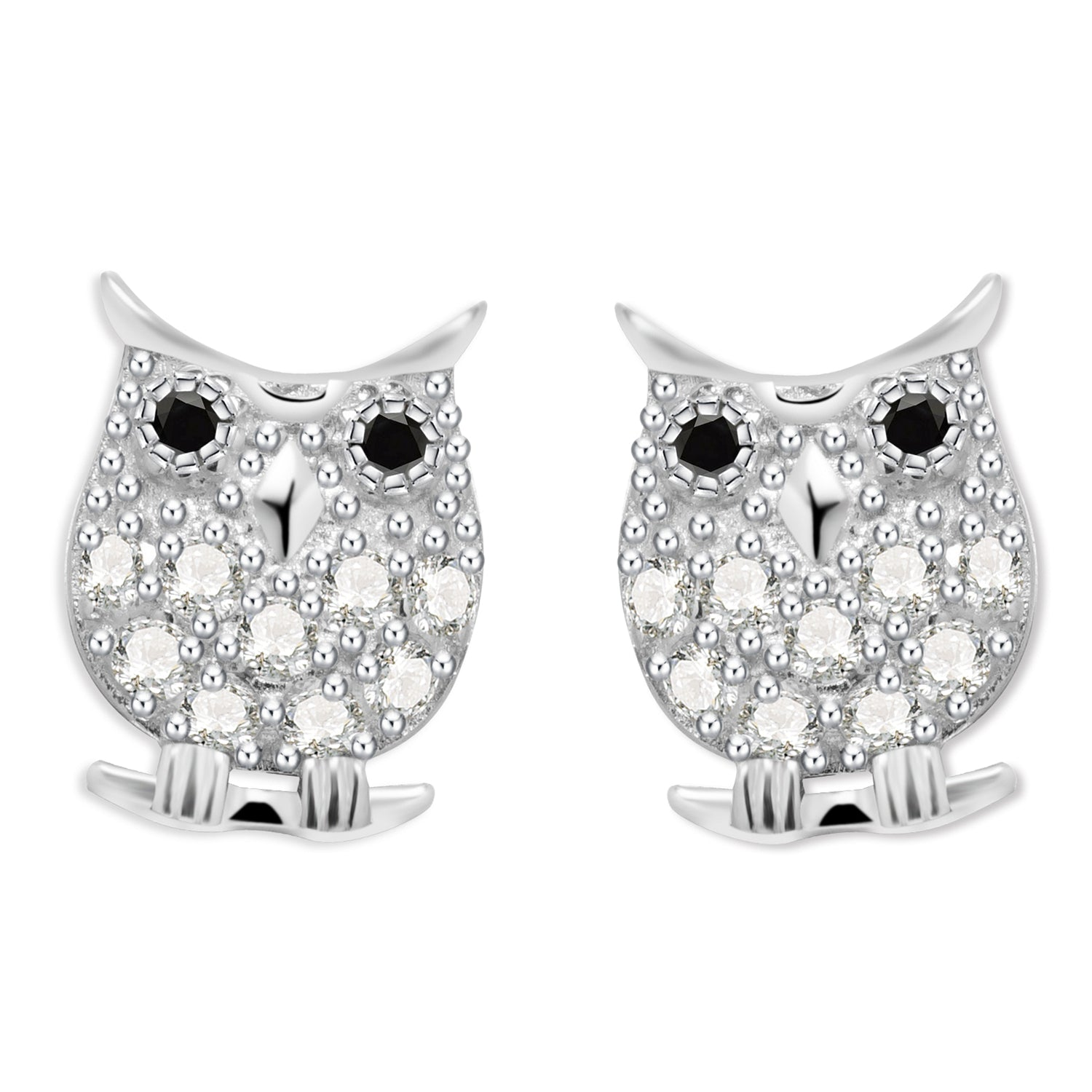 Ava Owl Sterling Silver Earrings