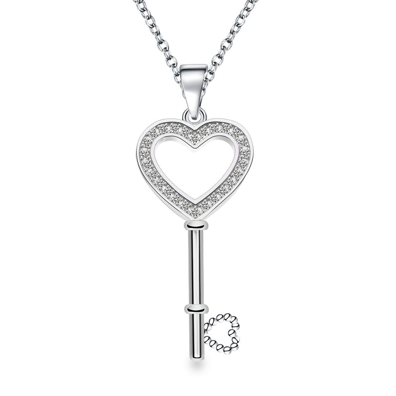 SASHA KEY HEART NECKLACE