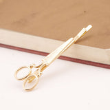 2 Pcs Gold and Silver Scissors Hair Clip