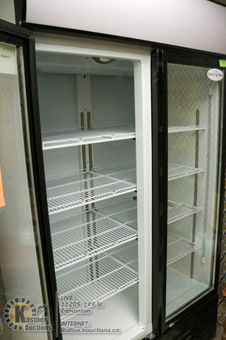 Hinged Double Glass Door Upright Cooler