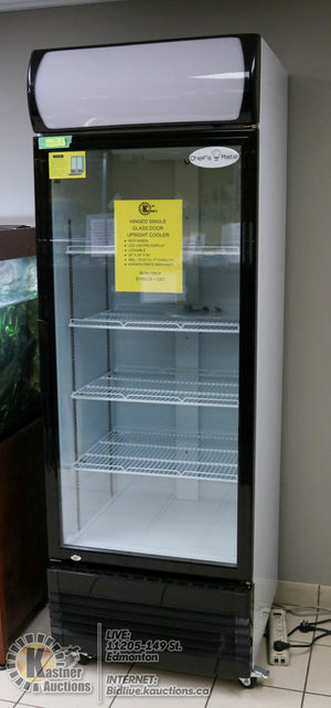 Hinged Single Glass Door Upright Cooler