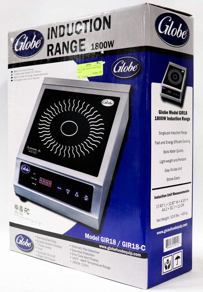 Globe Induction Range 1800W Portable Ceramic Cooktop