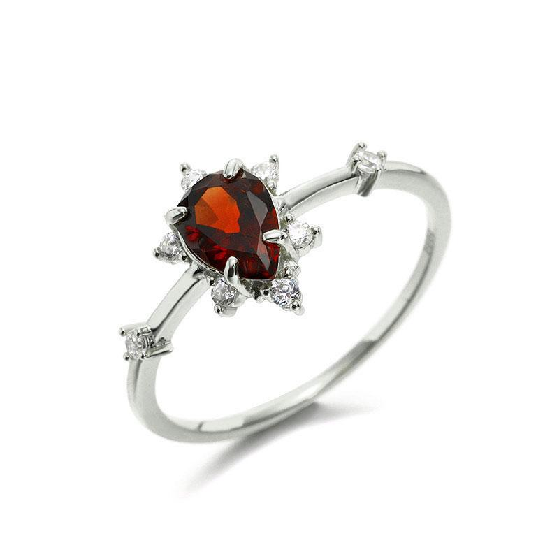 Gaia Red Garnet Ring