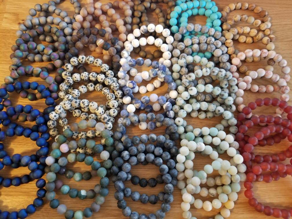 Semi-Precious Stone Stretch Bracelet Grab Bag
