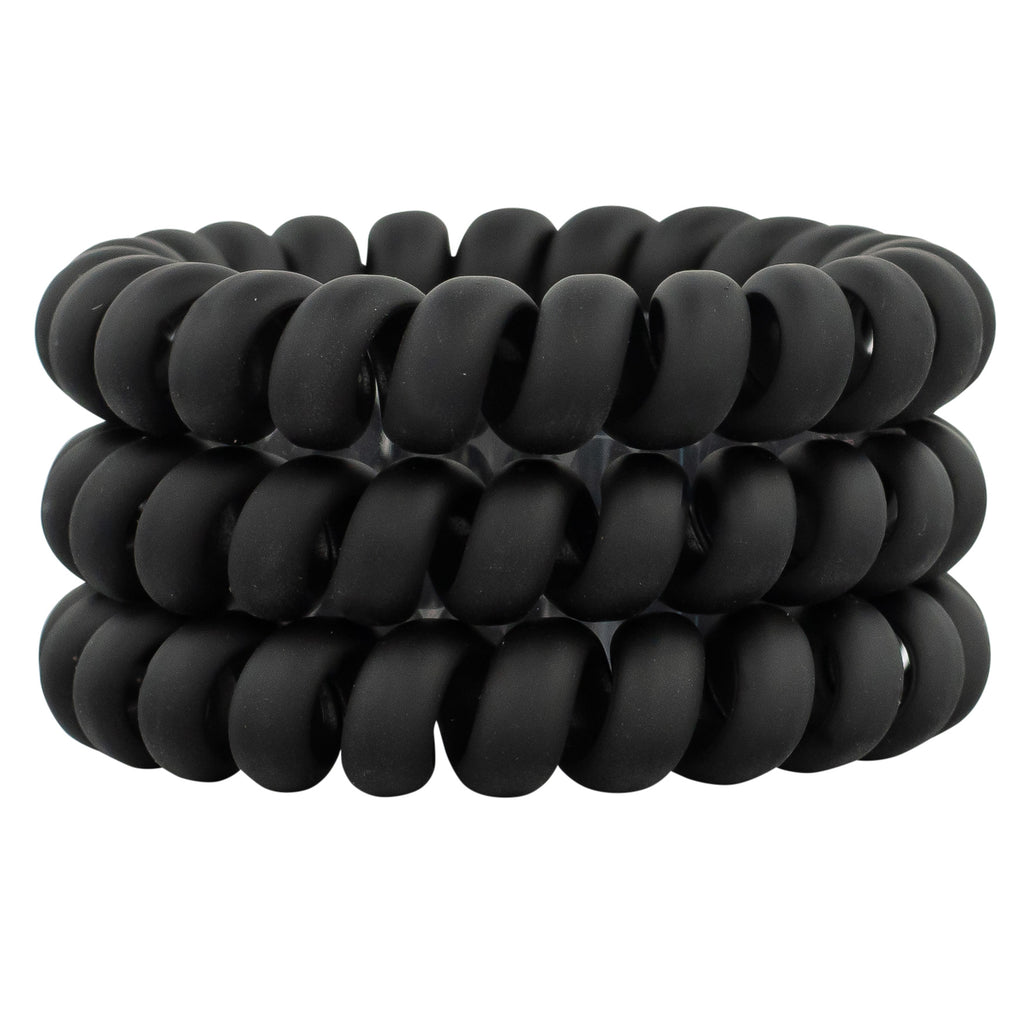 Hair Ties - Black All Matte Set