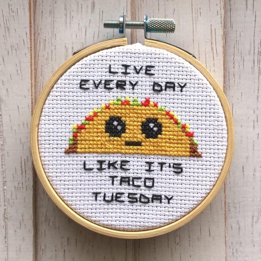 DIY Taco Cross Stitch