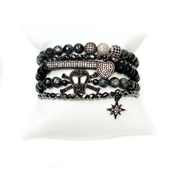 *Pre-Order* Love Lisa Bad & Bougee Gemstone Skull Set