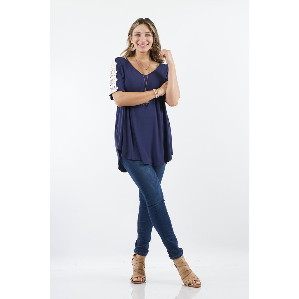 Plus Crochet Tunic