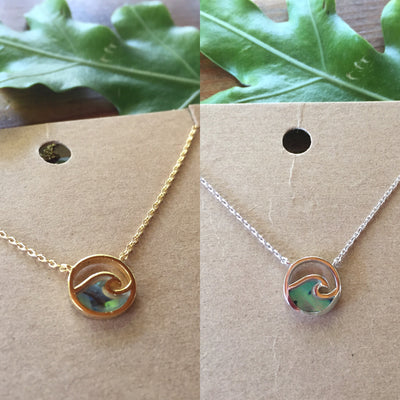 Abalone Wave Necklaces