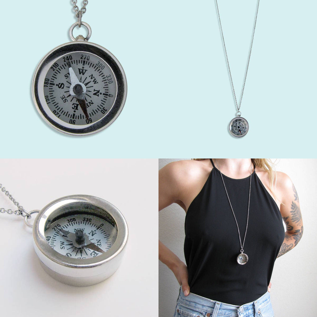 Silverback Compass Necklace