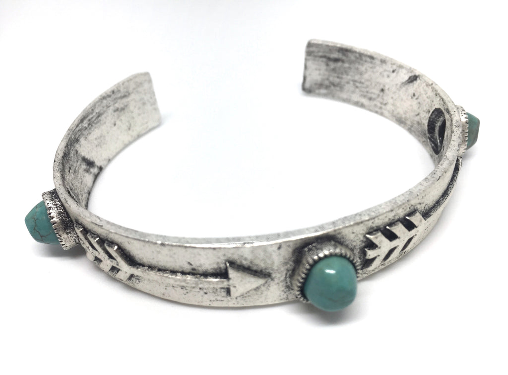 Natural Turquoise Arrow Cuff