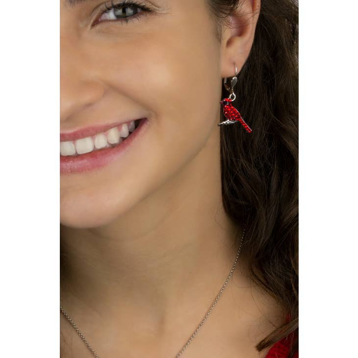Pave Swarovski® Crystal Cardinal Earrings