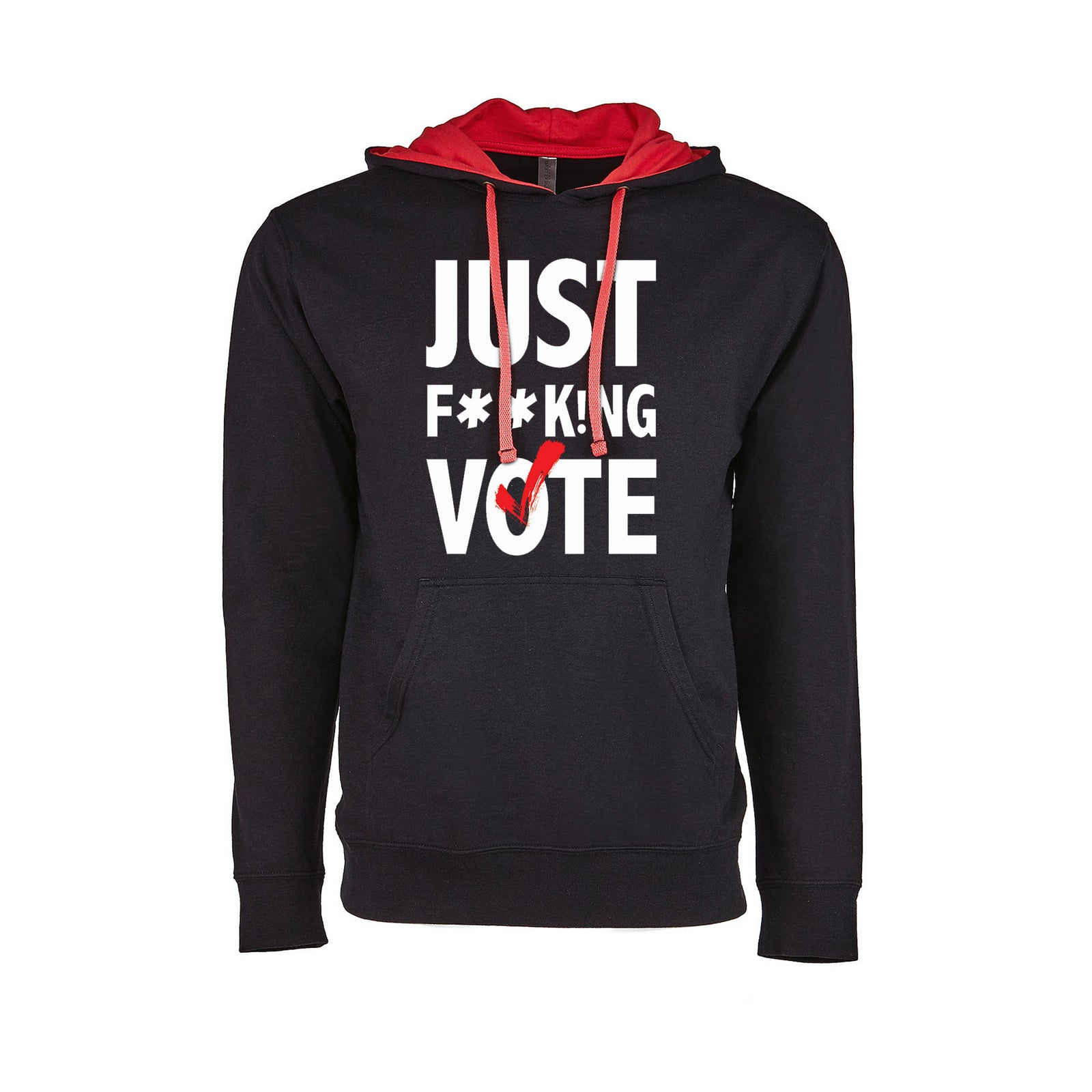 Just F**k!ng Vote [Black] French Terry Pullover Hoodie