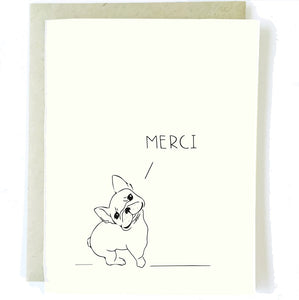 French Bulldog Merci Card - Artisan Collective