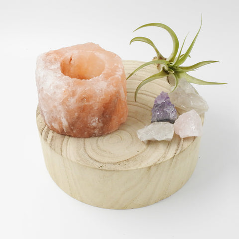 Himalayan Rock Salt Candle Holder - Artisan Collective