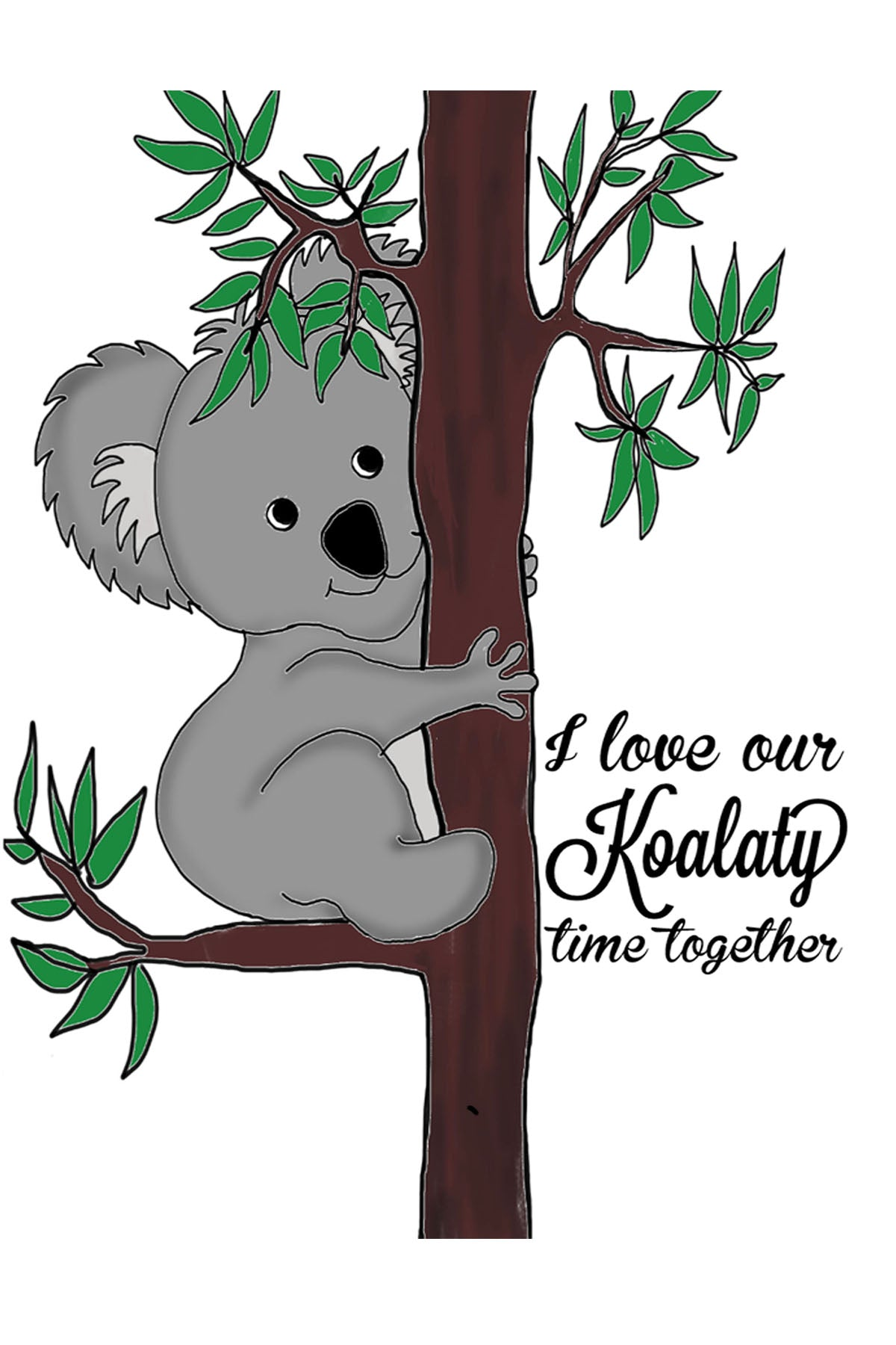Koalaty time- Postcard
