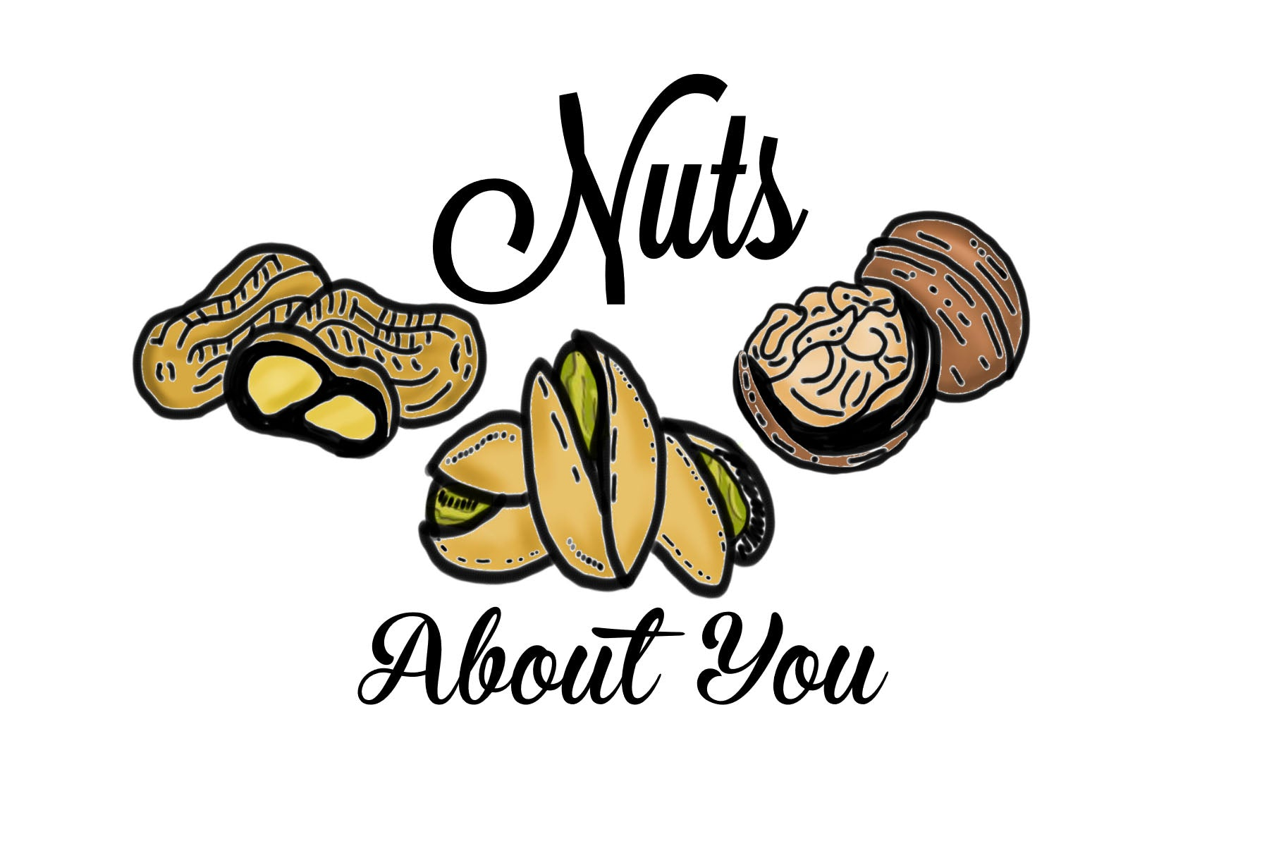 Nuts about you- Postcard
