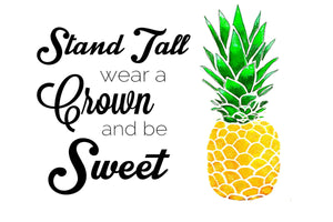 Pineapple stand tall - Postcard