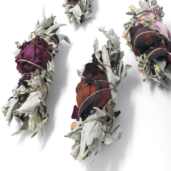 Sage Smudge- Rose Petals - Artisan Collective