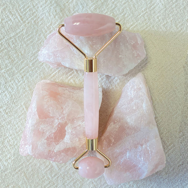 Rose Quartz Soothing Face-Massage Roller