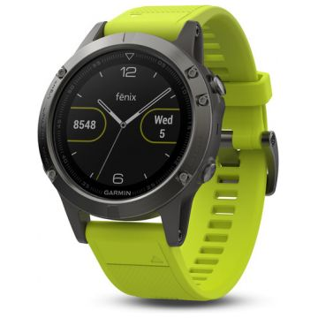Garmin Fenix 5 Slate Grey Yellow Amps Sports Watch