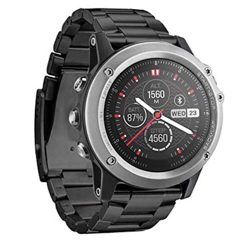 Garmin Fenix 3 HR Silver GPS Running Sports Watch - Steel Strap