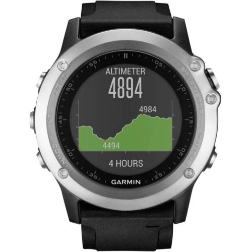 Garmin Fenix 3 HR Silver GPS Running Sports Watch - Black Strap