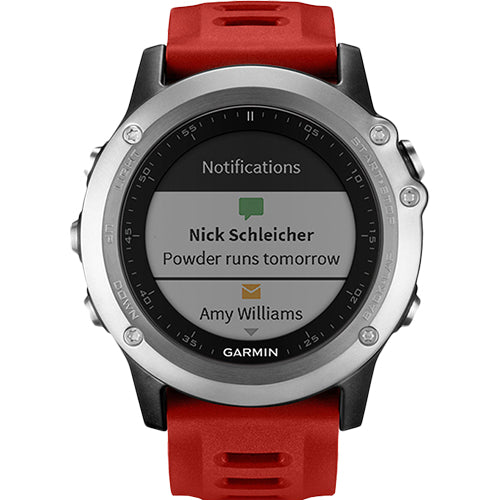 Garmin Fenix 3 Silver/Red Sports Running Watch