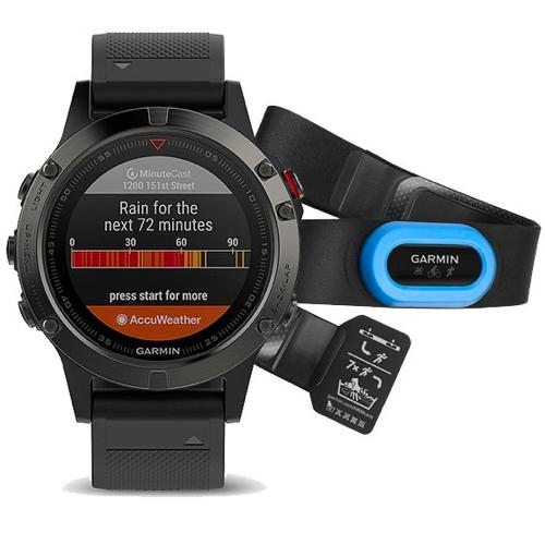 Garmin Fenix 5 Wrist HR Watch Slate Grey Black Band GPS - Performer