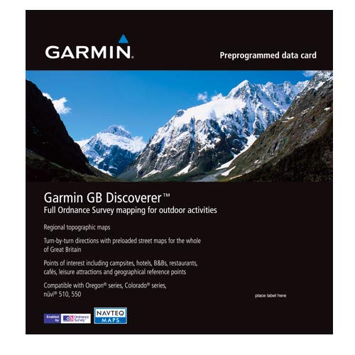 Garmin GB Discoverer UK 1:50K Detailed Mapping Software