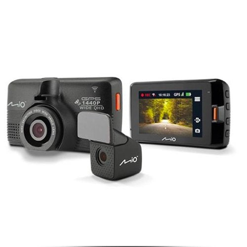 Mio Mivue 752 Dual WiFi Dash Cam Driving Recorder Front & Rear