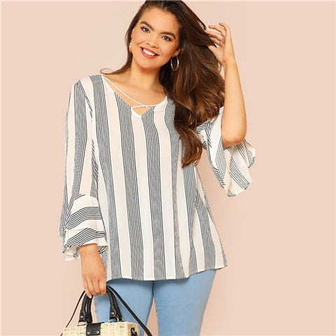 Mighty Striped Blouse