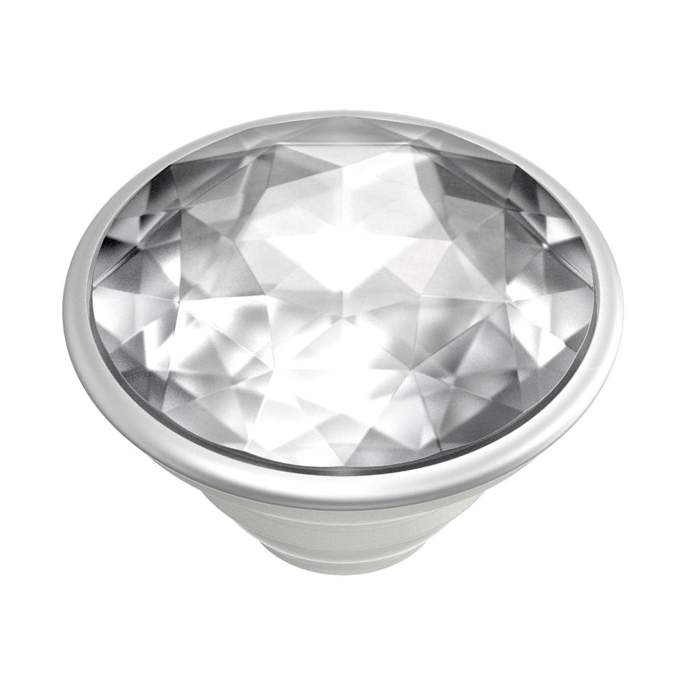 PopTop- Disco Crystal Silver, PopSockets