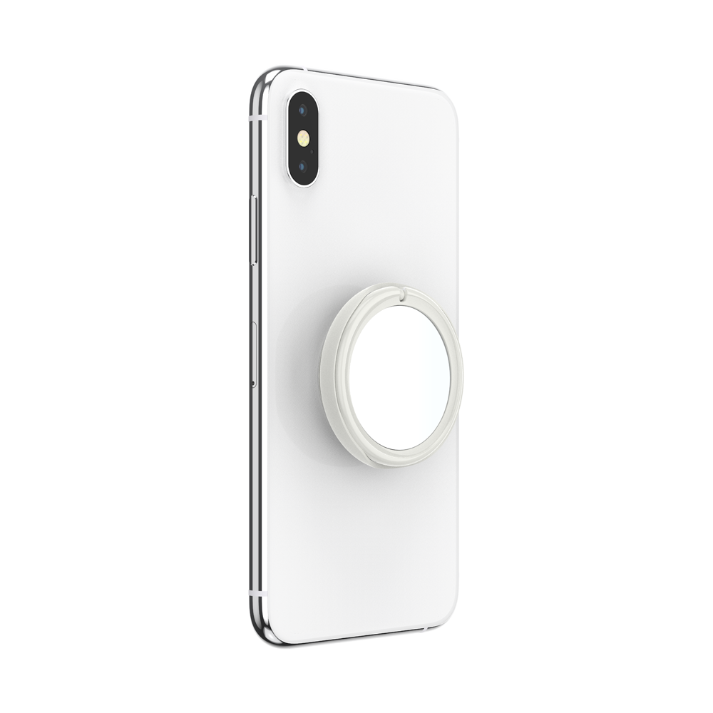 Dove White Marble Gloss Mirror, PopSockets