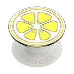 Enamel Lemon Slice, PopSockets