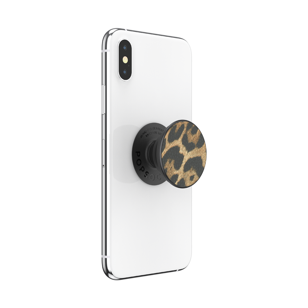 Vegan Leather Leopard, PopSockets