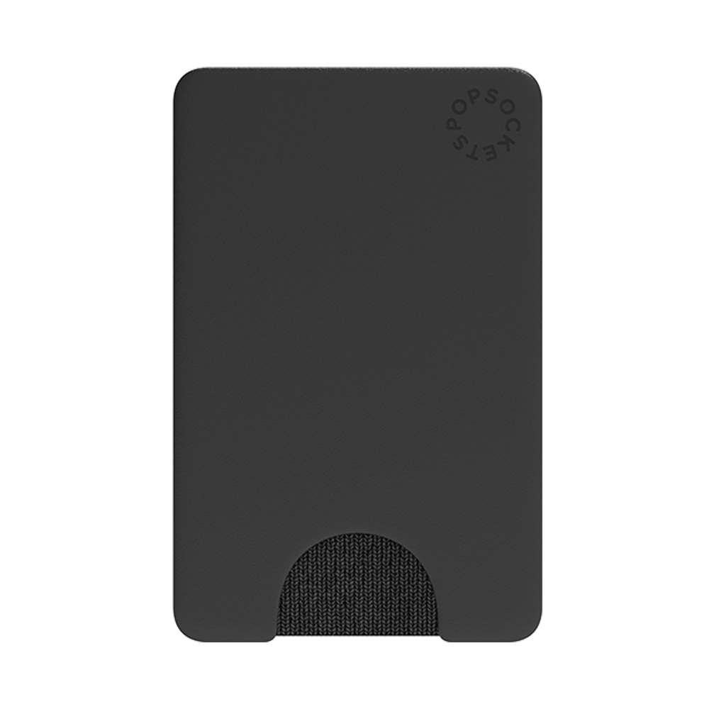PopWallet Black: Removable & Repositionable Wallet, PopSockets