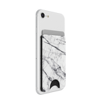 PopWallet White Marble: Removable & Repositionable Wallet, PopSockets