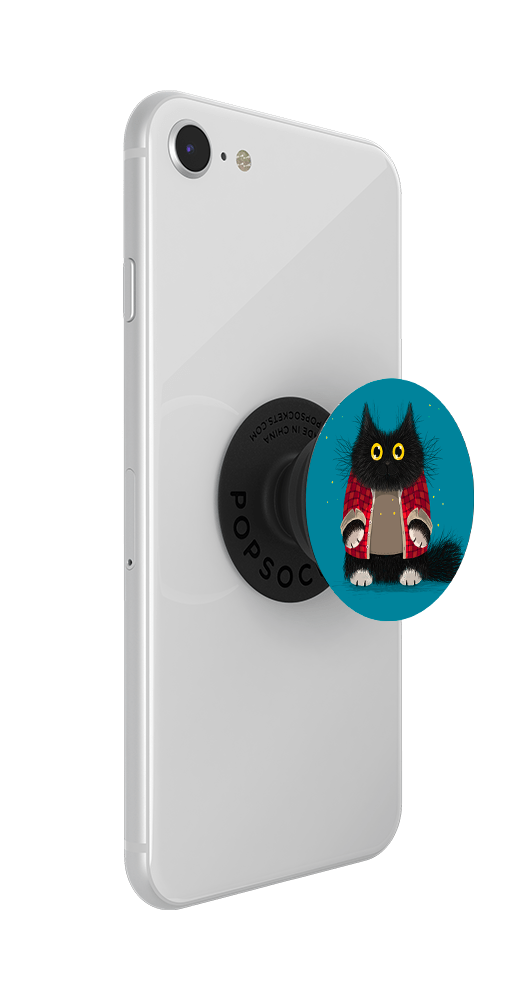 Midnight cat Tails by Rohan, PopSockets