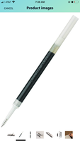 Black ink refill pen